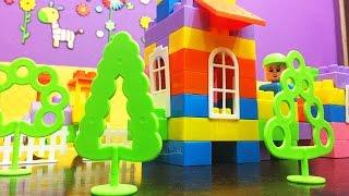Детский конструктор Строитель игрушки Полесье Строим домик(Мы с Полей строим домик из конструктора от фирмы