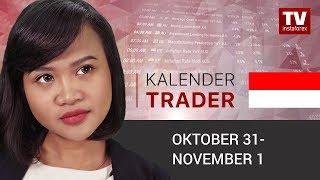 InstaForex tv news: Kalendar pedagang 30 Oktober – 1 November: USD Menghadapi Risiko Penurunan (USD, EUR, AUD)