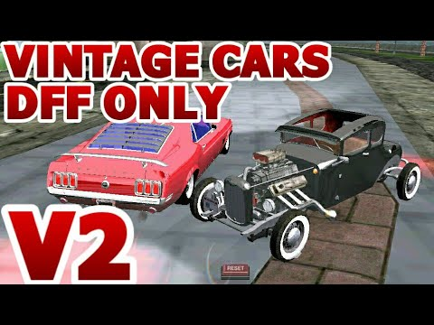 GTA SA ANDROID Classic Vintage Old School Cars Dff Only No Txd V2