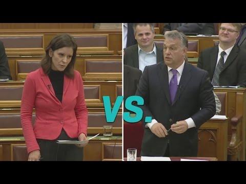 Orbán Viktor lesütött szemmel tért ki az LMP-s válasz elől (LMP - Politika)