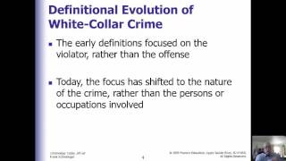 Criminology Week 10 White Collar and Organized Crime