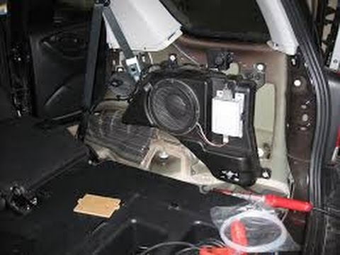 santa fe stereo wiring diagram 2004 how to replace your factory sub woofer youtube  how to replace your factory sub woofer youtube
