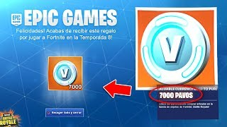 FORTNITE REGALA *7000 PAVOS FREE* if YOU DO THIS!! ✅😱 *SEASON 8*