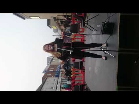 Aimee Worrillow Singing In Rothwell Centre