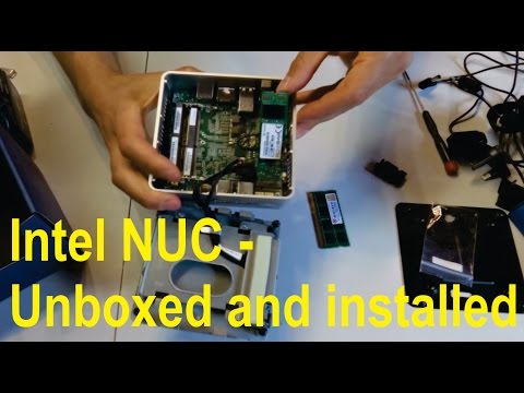 Unboxing and installation of Intel NUC mini PC - YouTube
