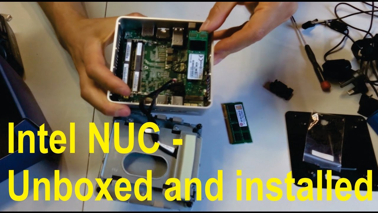 Unboxing and installation of Intel NUC mini PC