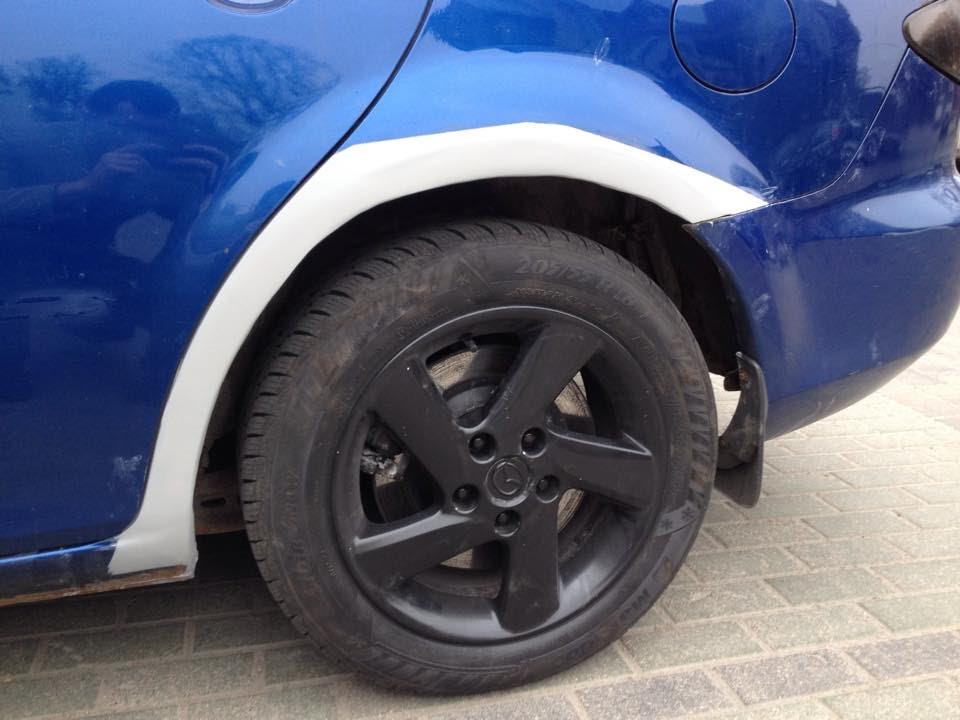 Diy Mazda 6 Arch Rust Fix Fiberglass Bodyfiller Youtube