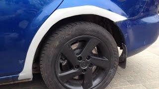 Diy Mazda 6 Arch Rust Fix Fiberglass Bodyfiller