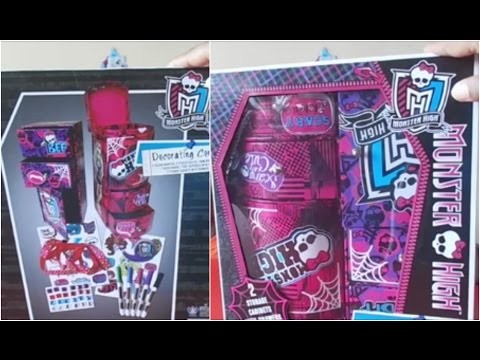 DIY Monster High Jewellery Box for kids - Decorate with jewels, ribbons, color and stickers
