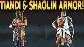 For Honor: TIANDI & SHAOLIN WEAPONS & ARMOR! TIANDI & SHAOLIN EXECUTIONS / GAMEPLAY!