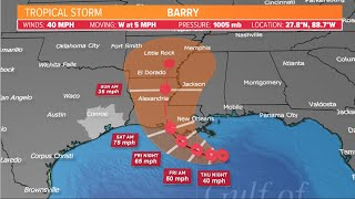 10 a.m. Tropical Storm Barry update with Meteorologist Chita Craft