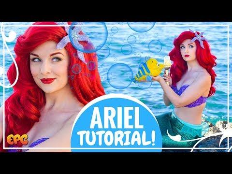 Disney's Little Mermaid Makeup Tutorial w/ Ariel Cosplay Mermaid Tails
