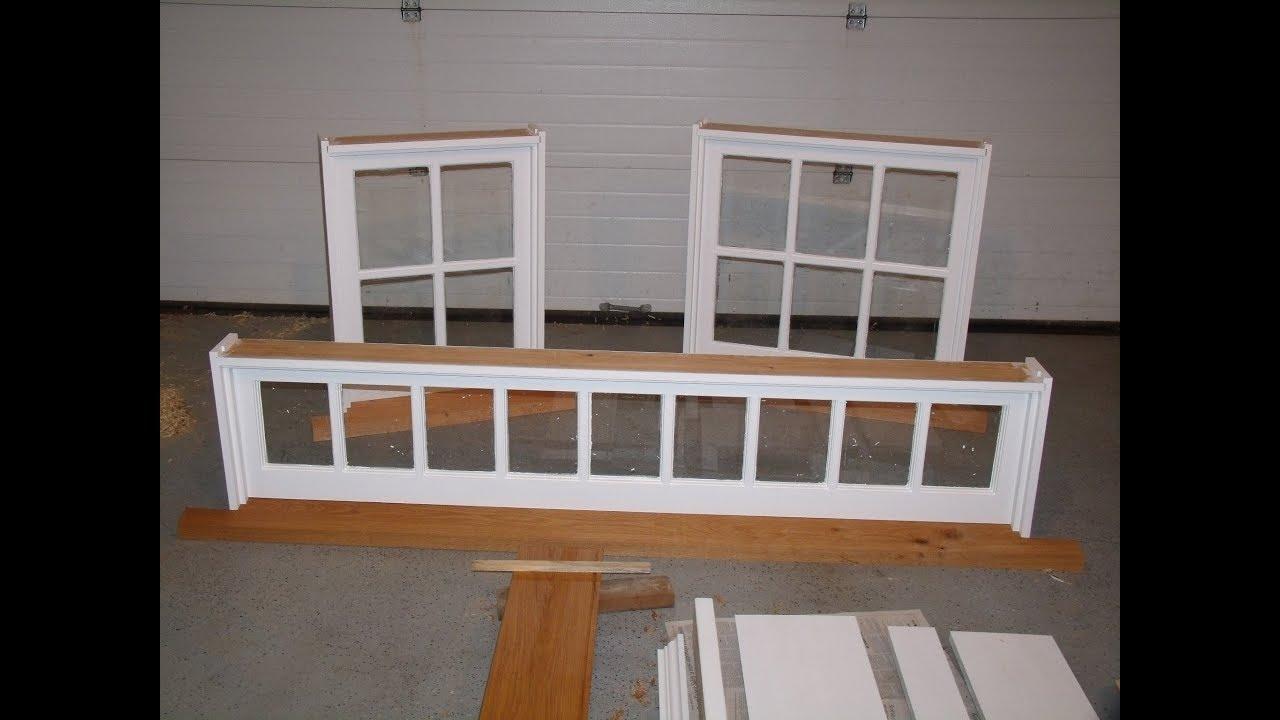 Making Frames for Barn Sash Windows - YouTube