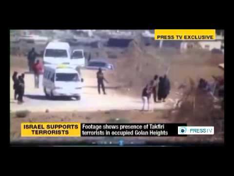 ISIL Takfiri terrorists in the Israeli-occupied Golan Heights in Syria