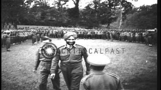 Maharajah Yadvindra Singh addresses Bengal Lancers of United States 5th Army and ...HD Stock Footage