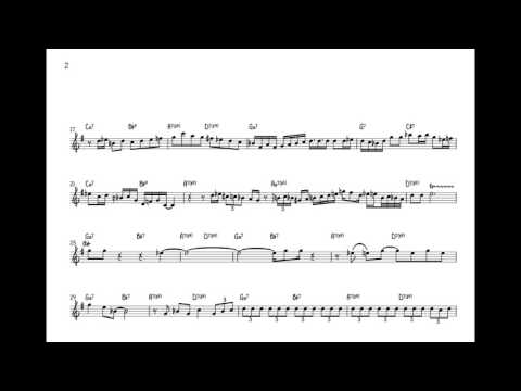 Art Blakey & the Jazz MessengersMoanin Lee Morgan Solo Transcription Bb