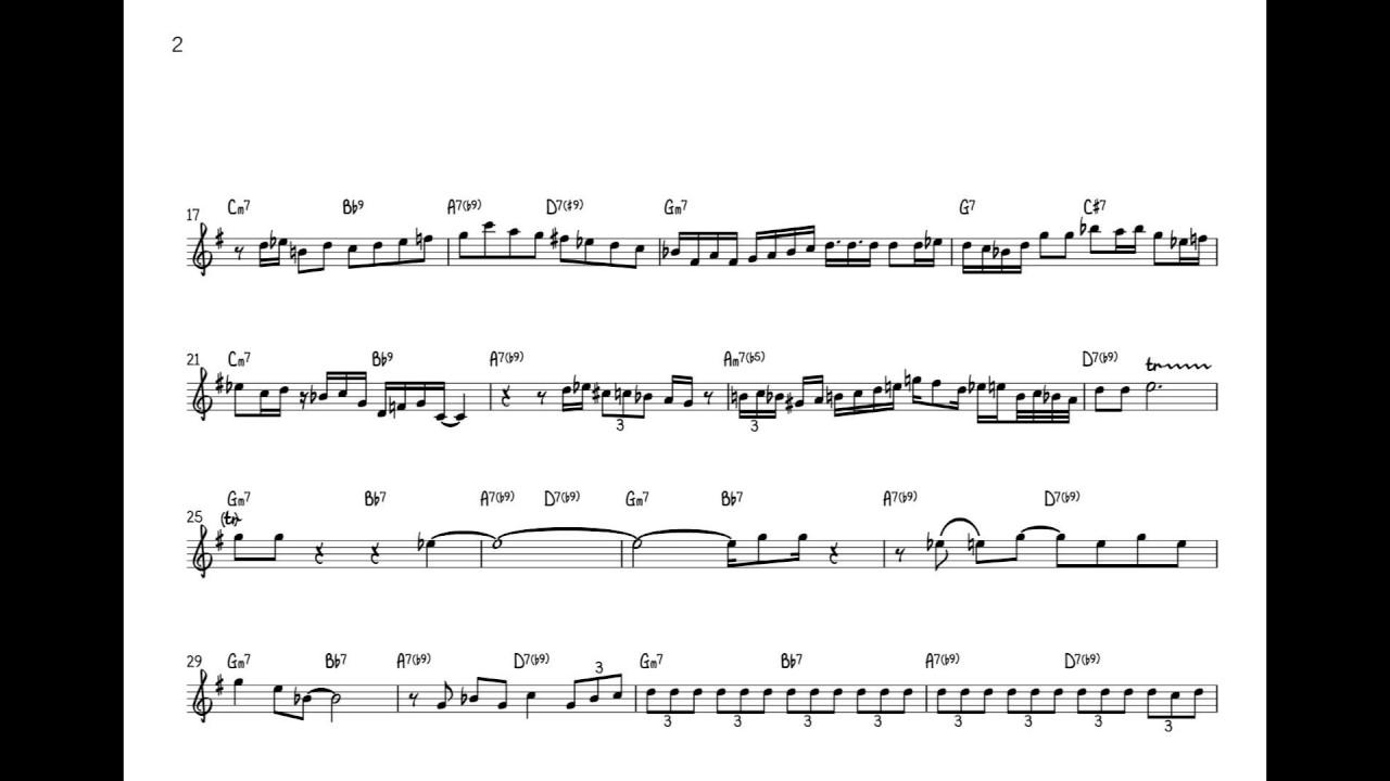 Art Blakey & the Jazz Messengers - Moanin (Lee Morgan Solo Transcription)  (Bb)