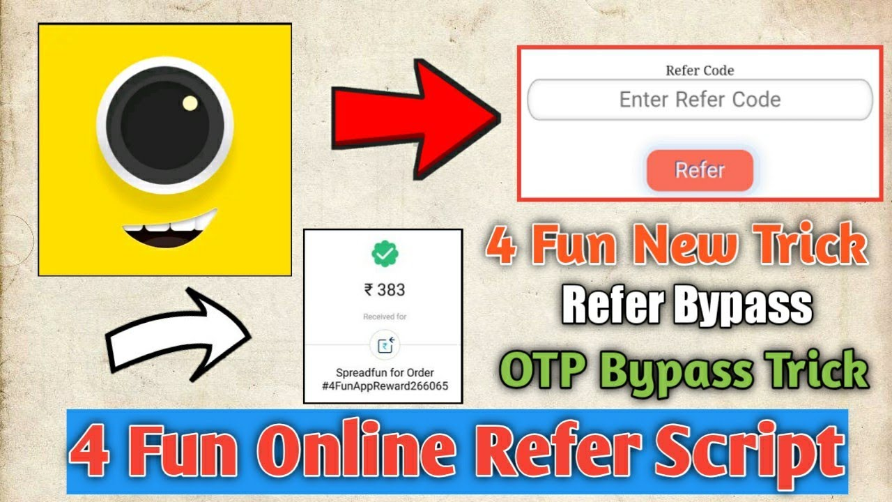 [OTP Bypass] 4 Fun Online Refer Script || 4 Fun New Refer Trick OTP Bypass  || Smart Earning