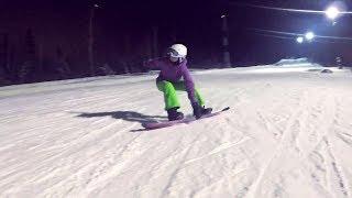 Женя учит карвинг!) Инструктор по сноуборду Михаил Собин