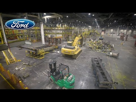 Ford Michigan Assembly Plant Time-Lapse – Changeover To 2019 Ranger Production Line