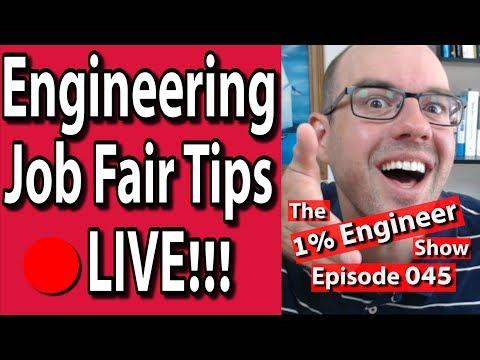 🔴15 Engineering Career Fair Tips | Engineering Job Fair Advice | 1% Engineer Show 045