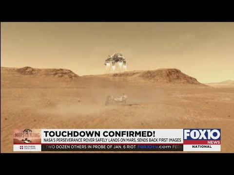 NASA's Perseverance Rover safely lands on Mars, sends back first images