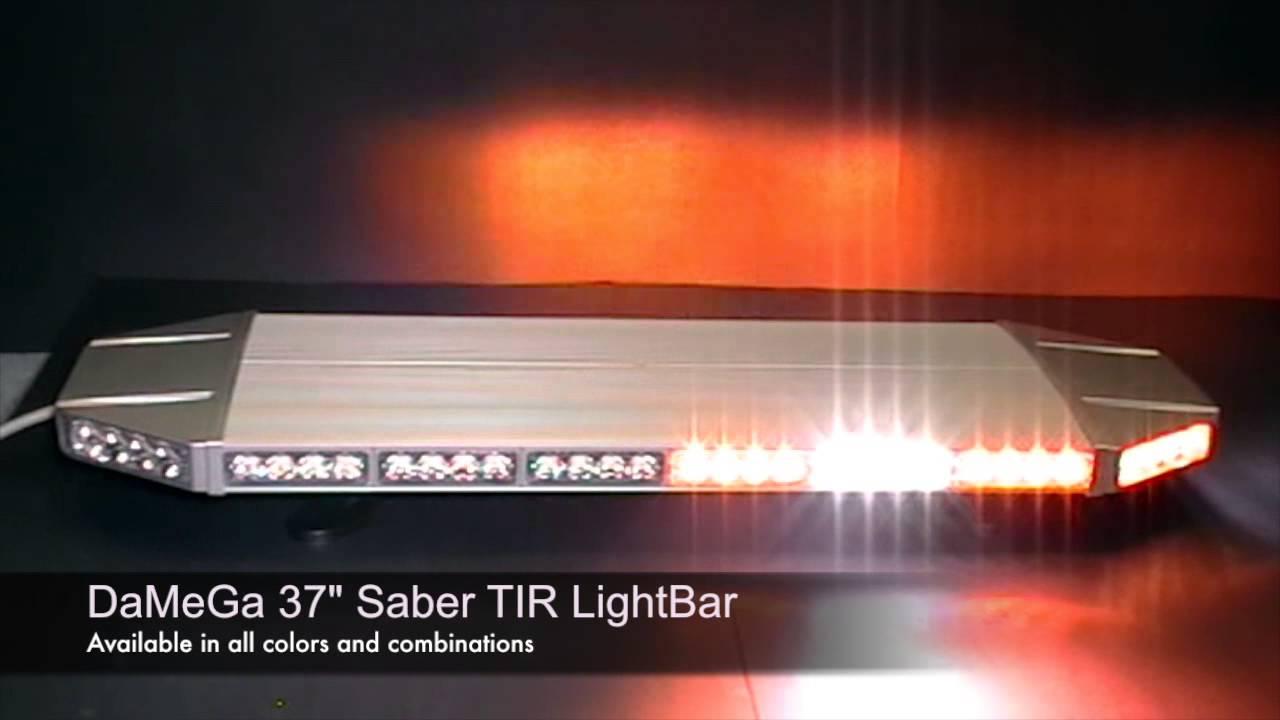 hight resolution of damega engineering 37 saber tir lightbar