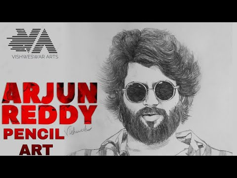 Arjun Reddy || Vijay Devarakonda || Pencil drawing Art || Realistic Pencil Sketch | Vishweswar arts