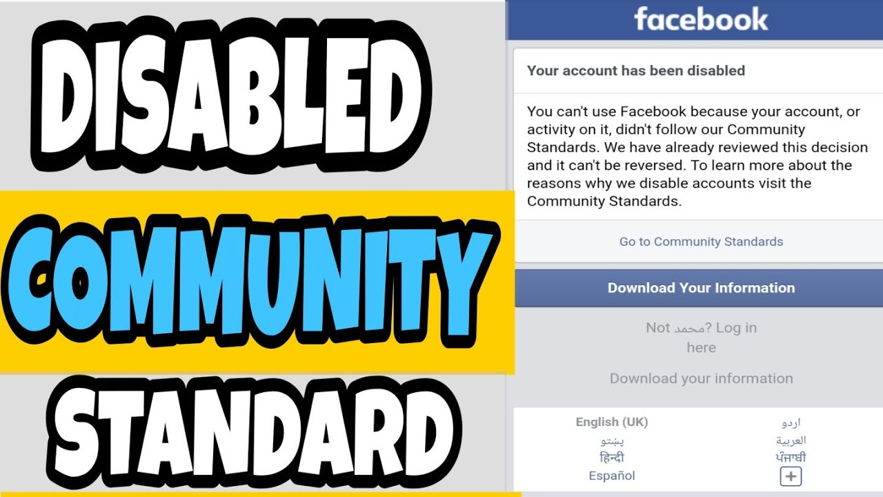 How to fix facebook go to community standards problem ...