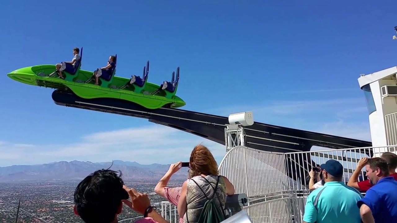 Stratosphere -X-Scream thrill ride 2017. - YouTube