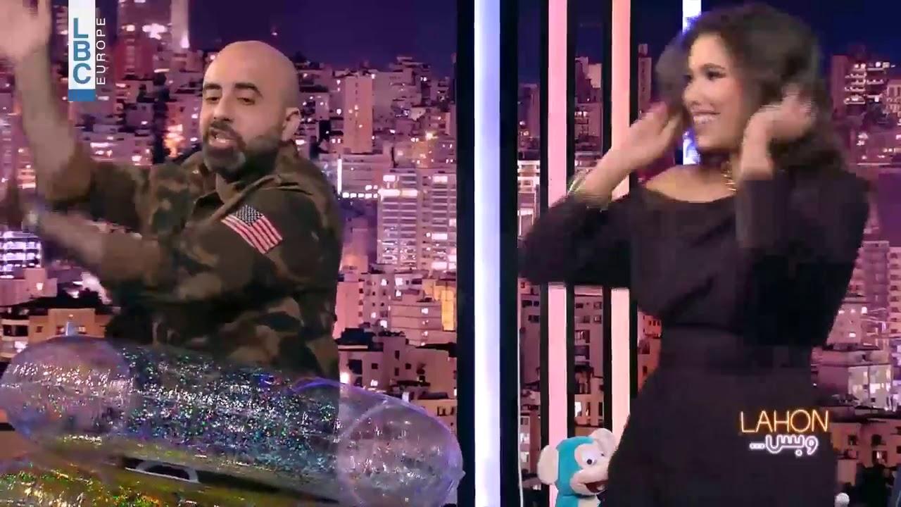 """النجمة دانييلا رحمة ترقص على أنغام أغنية """"Baby Shark"""" مع هشام حداد في """"لهون وبس"""""""
