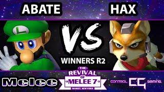 Revival of Melee 7 - Hax (Fox) Vs. Abate (Luigi) - Winners Bracket