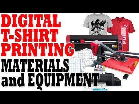 Digital T-shirt Printing Materials And Equipment