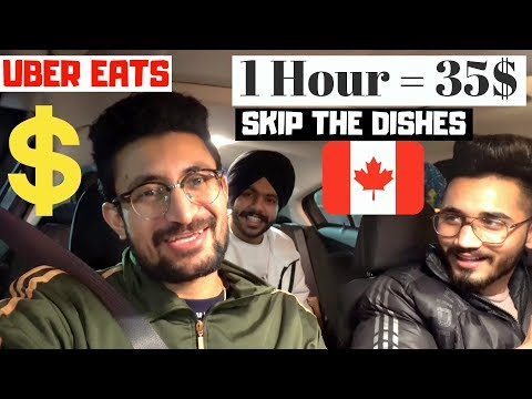 Students Delivering Food In Canada (1 HOUR = 35$) UBER EATS