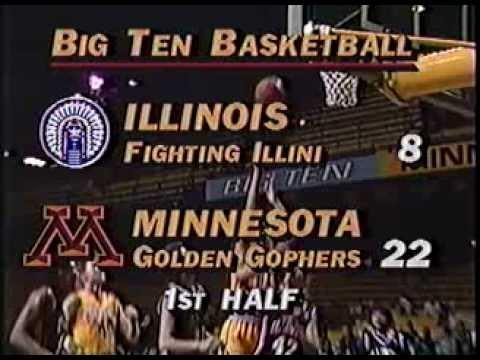 Big Ten Basketball: Illinois vs. Minnesota (February 10th, 1989)