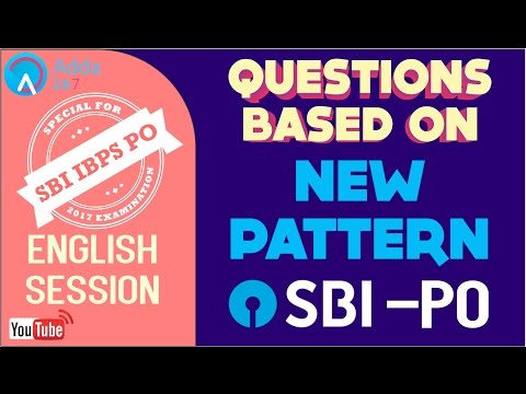 SBI PO 2017 | Questions Based On New Pattern | English | Online Coaching for SBI IBPS Bank PO