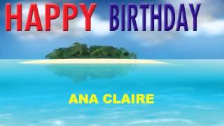 AnaClaire   Card Tarjeta - Happy Birthday