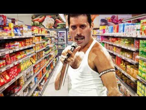 freddie mercury gets lost in supermarket