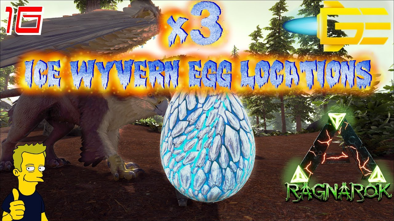 THREE!!! ICE WYVERN NEST LOCATIONS, ICE BEAR CAVE LOCATION RAGNAROK ARK:  Survival Evolved S1 E16