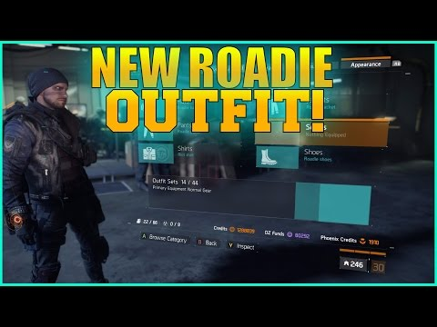 The Division - New Roadie Outfit All Intel Outfit Underground 1.3 Update!