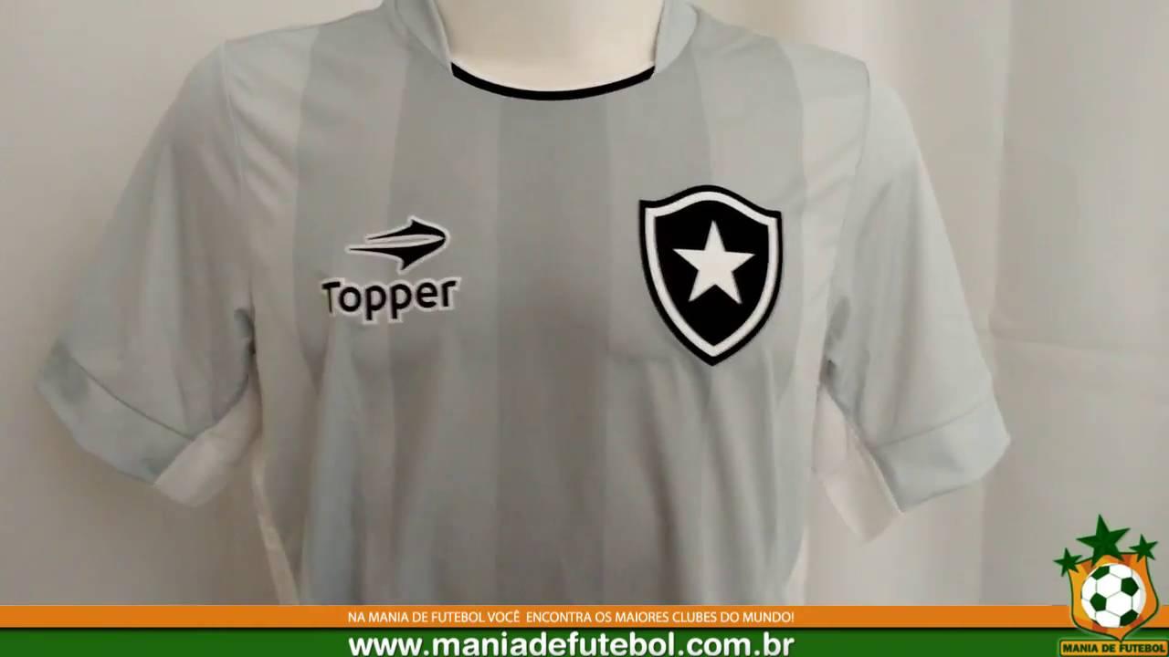 5a86dc3dbe83c Camisa Jogo 3 Botafogo 2016 Topper Cinza - YouTube