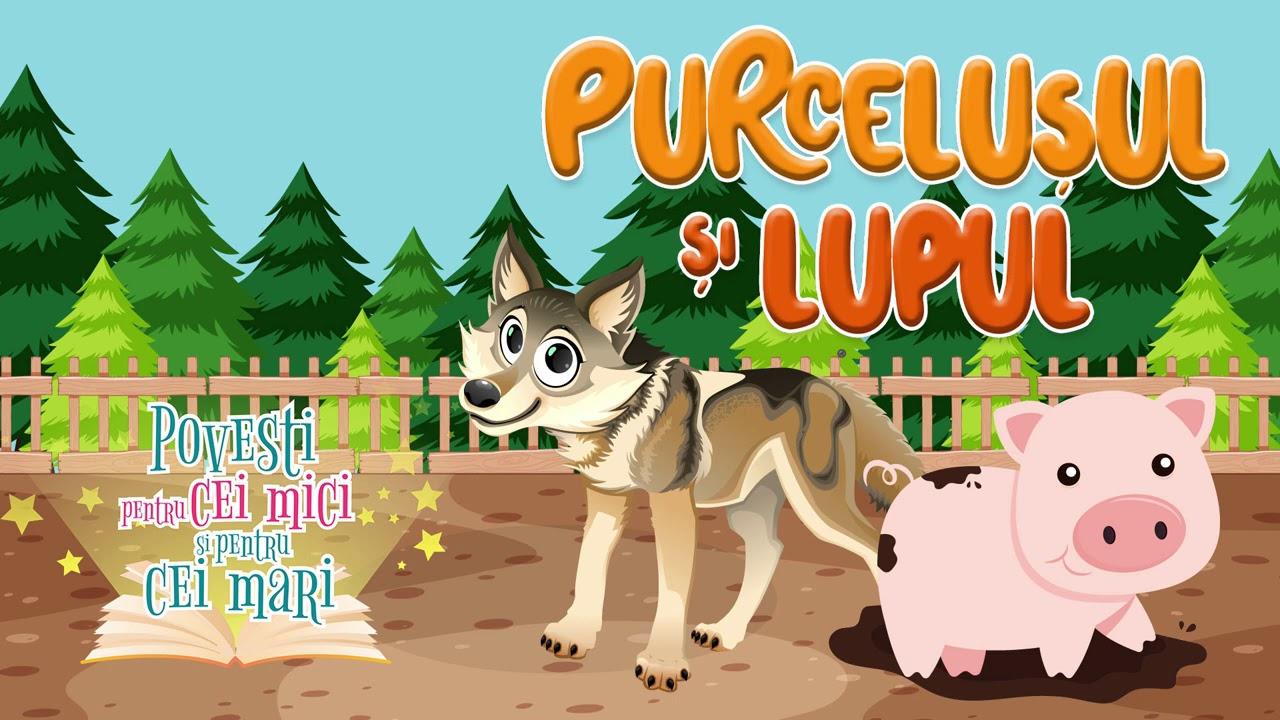 Purcelusul si lupul - Daniela Nane - Povesti pentru cei mici si pentru cei mari 📕