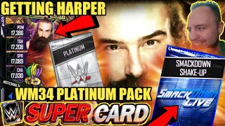 CLAIMING WM34 HARPER CARD SDL PACKS WM34 PLATINUM PACK OPENING MORE Noology WWE SuperCard S4