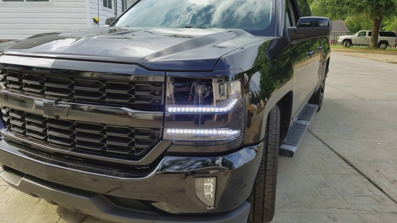 new 2016 silverado custom sequential headlight youtube. Black Bedroom Furniture Sets. Home Design Ideas
