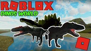 Roblox Dinos World - NEW ALLOSAURUS AND STEGOSAURUS + REX REMAKE!