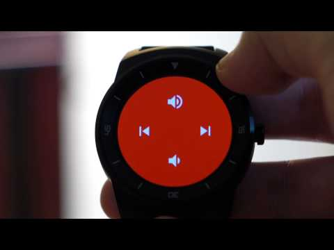 Android Wear 4.4W2 music playback control UI