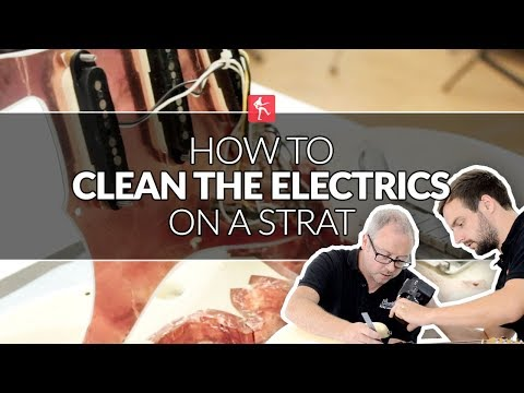 How To Clean The Electrics On A Fender Style Guitar - Guitar Maintenance Lesson
