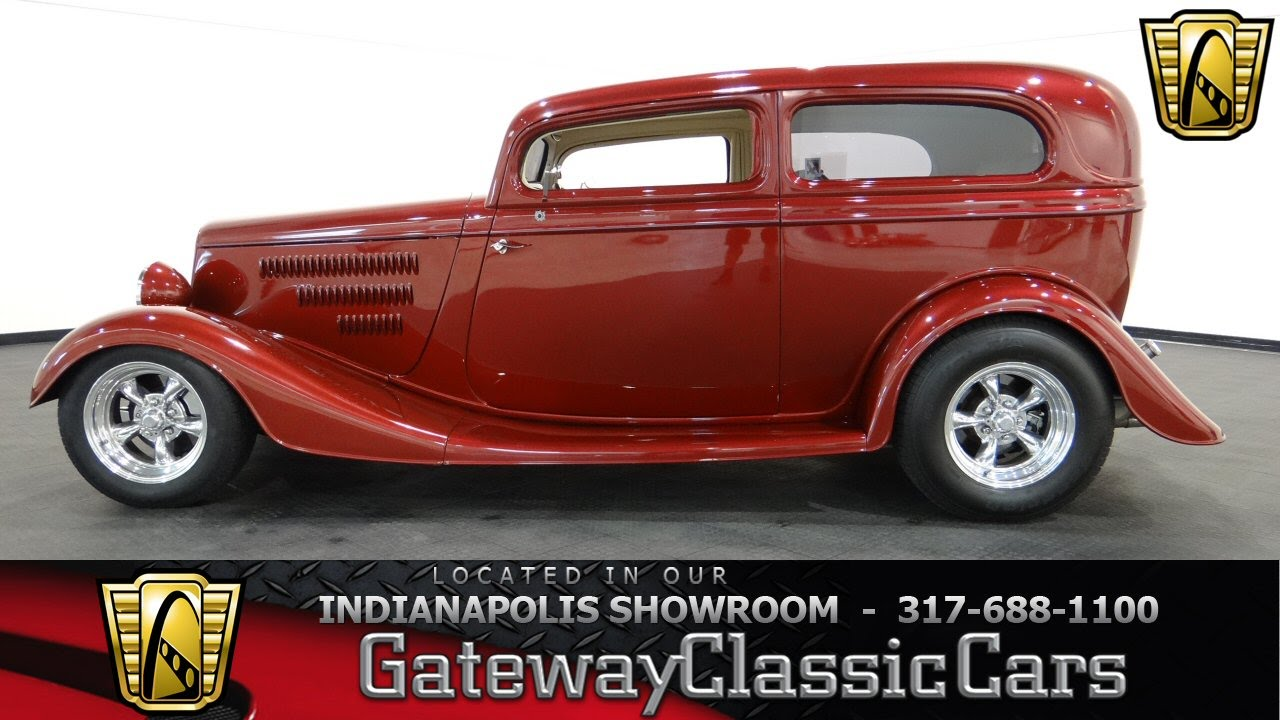 1934 ford tudor 436 ndy gateway classic cars indianapolis youtube. Black Bedroom Furniture Sets. Home Design Ideas