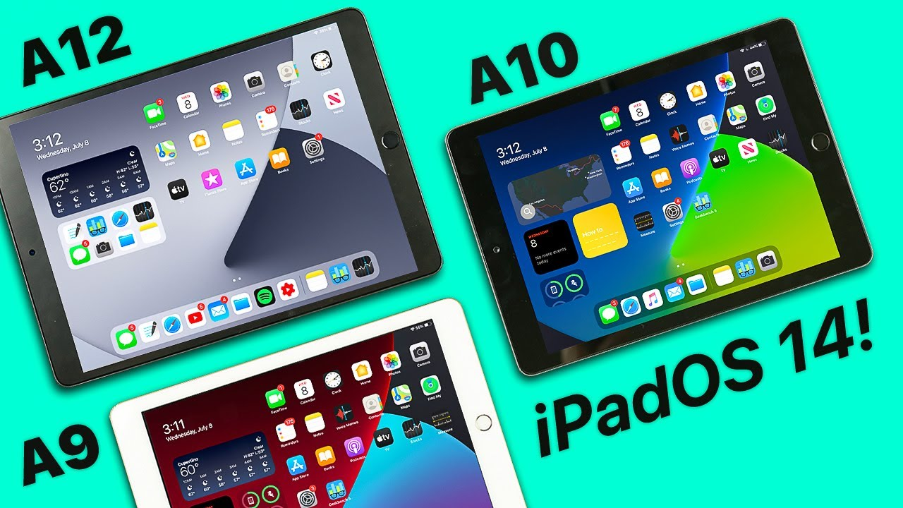 iPadOS 14 Beta 2 | A9, A10 + A12 iPad Performance Test! (5th + 6th gen, Air 3)