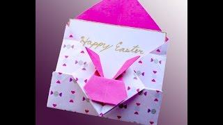 Ideas for Easter. Bunny gift envelope. Конверт с зайчиком - оригами